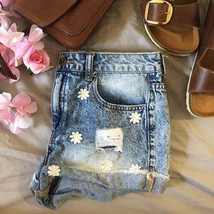 💎VINTAGE sunflower shorts 💎